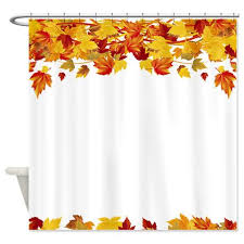fall leaves shower curtain orange shower curtain liner home