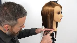 what is vertical haircut how to hold sections to create a consistent one length haircut