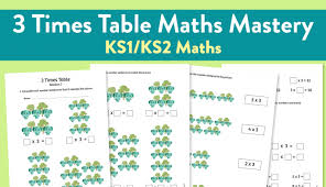 3 times table worksheet maths mastery worksheet for ks2 maths 3 times table teachwire