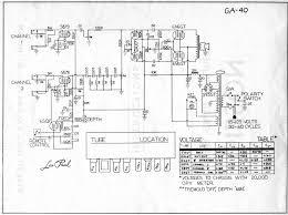 ga40 gibson ga40 les paul amplifier schematic