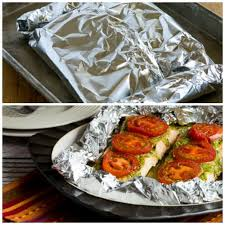 Bake Salmon In Toaster Oven Foil Baked Salmon Recipe With Basil Pesto And Tomatoes Kalyn U0027s