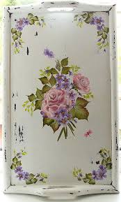 Shabby Chic Paintings by Buy Tray Table Shabby Chic Painted Charm On Livemaster Online Shop