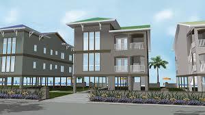 plan 62573dj 2 family house plan on stilts family house plans