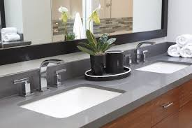 Concrete Bathroom Sink Concrete Bathroom Sink With Floating Cabinet White Countertop