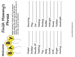 photo baby shower bingo cards image