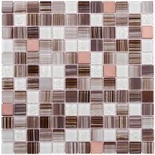 shop elida ceramica brushed copper uniform squares mosaic glass