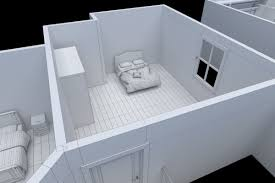 3d model house floor plan non textured version vr ar low
