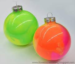 neon marble paint ornaments ilovetocreate