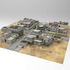 Home Design 3d Models Free by 3d Model Desert Town Poser Vue Cgtrader
