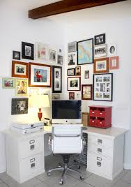 Organized Office Desk Home Office With Photo Wall House Mix