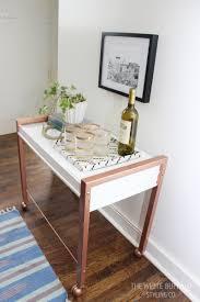 diy faux copper table