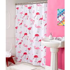 caribbean joe flamingo fabric shower curtain boscov u0027s
