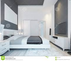 luxury bedroom with a bed in a modern style stock illustration