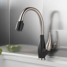 kitchen room trinsic single handle deck mounted kitchen faucet