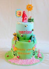 Yo Gabba Gabba Party Ideas by Two Layers Yo Gabba Gabba Birthday Cake Birthday Cake Cake Ideas