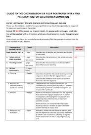 guidelines for secondary science teacher portfolios portfolio acer