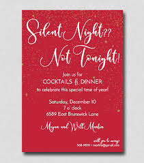 Cocktail Party Invitation Card Silent Night Not Tonight 2520 Lafayette Papers
