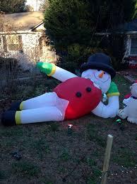 yard snowman yard snowman