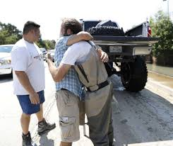 how long is a monster truck show man in monster truck makes a difference in flooded memorial