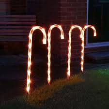 Outdoor Candy Cane Lights by Red And White Candy Cane Christmas Stake Lights 4 Pack