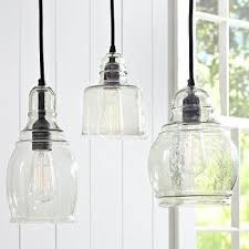 Glass Lights Pendants Black Fabric Chords Blown Glass 8 Light Hanging Pendant