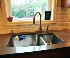 kitchen faucet placement sink kitchen meetly co