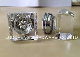10pcs lot 35mm fashion style square sparkling clear crystal knob