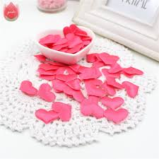 100pcs silk cute heart cloth small decorations for wedding home