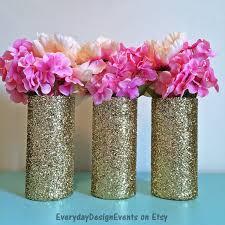 3 gold wedding centerpiece wedding decorations gold glitter