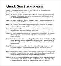sample policy manual template employee training manual template