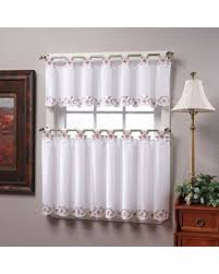 Curtain Pairs Amazing Deal On Tab Top 36 Window Curtain Tier Pairs In