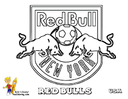 new york red bulls futbol coloring sheets bull coloring pages