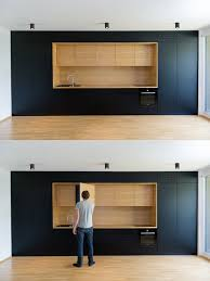Kitchen Cabinet Used Black And Wood As Used Here Are Entirely Minimalist With Every
