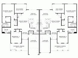 Duplex Plans With Garage Eplans Country House Plan Duplex Plan 2796 Square Feet And 4