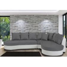 canapé d angle bi matière marque generique canapé d angle bimatière bicolore