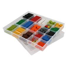 Lego Storage Containers Amazon - amazon com iris lego 2 piece sorting divider set home u0026 kitchen