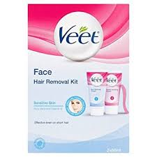 veet face hair removal kit sensitive skin 50 ml pack of 2
