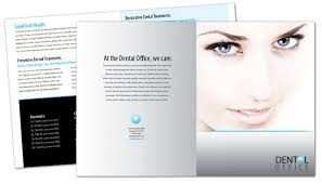 office brochure templates half fold brochure template for dentist dental office order