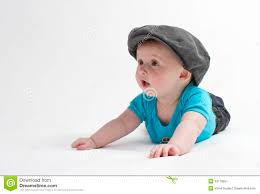 cute baby with flat cap stock image image 24178651