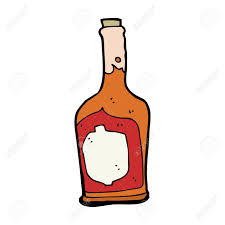 cartoon wine bottle cartoon bottle of rum royalty free cliparts vectors and stock