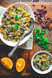 sweet potato thanksgiving dish brown rice and sweet potato salad healthy seasonal recipes