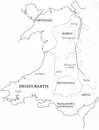 Medieval England Map by Kingdom Of Gwent Wikipedia