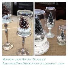 wine glass snow globes anyone can decorate diy jar snow globes anthropologie