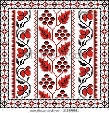 vector ethnic cultural ornaments cross stitch stock vector