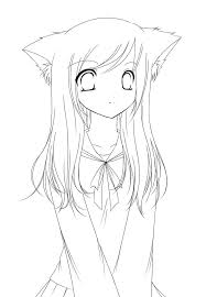 anime coloring pages coloring page for kids
