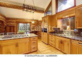 kitchen cabinet color honey log cabin kitchen interior design with honey color cabinets