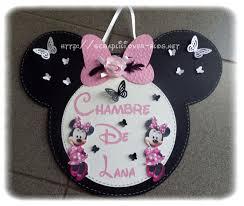 Chambre Enfant Minnie - pancarte de porte bébé minnie le de lili