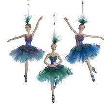 peacock ballerina ornament allegro boutique