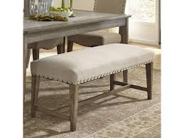 Upholstered Benches Liberty Furniture Weatherford Rustic Casual Upholstered Bench With