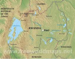 Africa Geography Map by Rwanda Physical Map